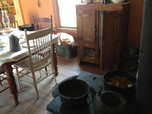 cookstove and table