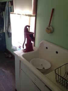kitchen sink with pump