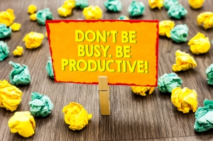 dont be busy be productive image